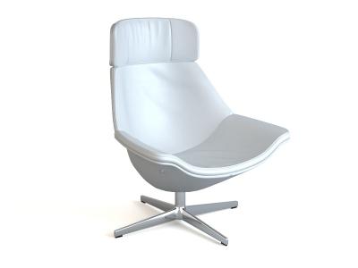 Office tulip chair 3d rendering