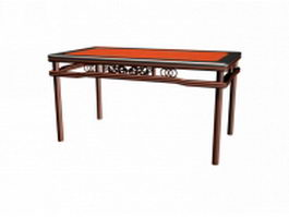 Chinese antique dining table 3d preview