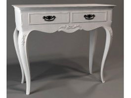 2 drawers classical console table 3d preview