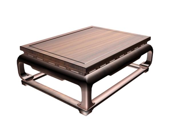 Japanese tea table 3d rendering