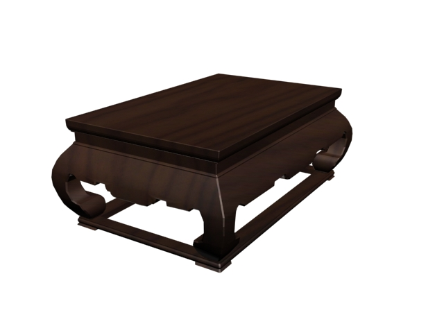 Japanese tea table 3d rendering