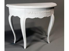Half round classical console table 3d preview