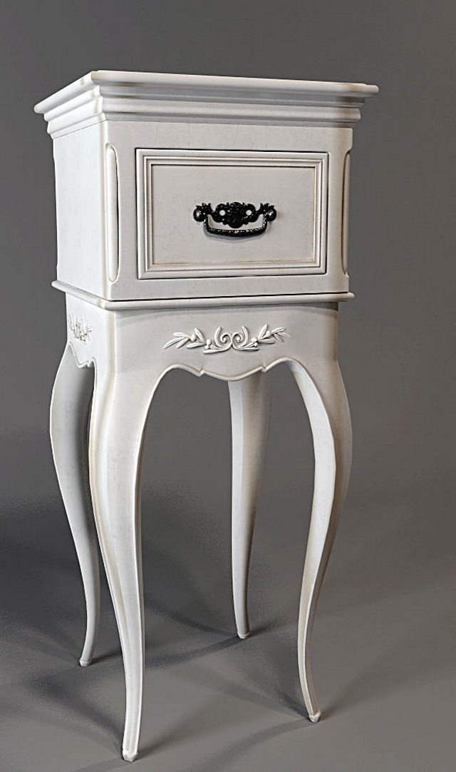 Classical corner console table 3d rendering