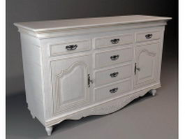 Antique french chest of drawers 3d preview