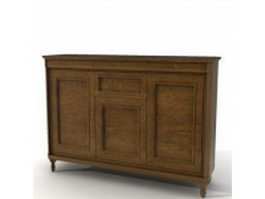 Classic kitchen sideboard 3d preview