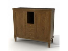 Classical furniture side cabinet 3d preview