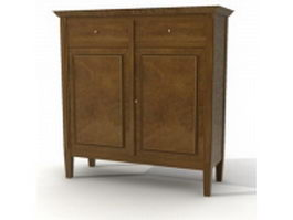 Victorian style side cabinet 3d preview