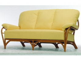 3 seater upholstered sofa 3d preview