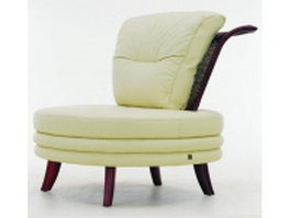 Round upholstered chair 3d preview