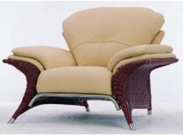 Modern fabric sofa chair 3d model preview