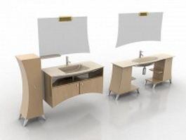 Modern bathroom washstand 3d preview