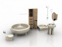 Bathroom furniture vanity unit 3d preview