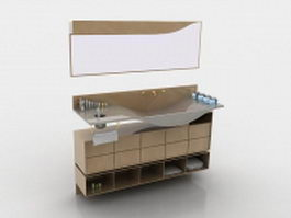 Bathroom vanity cabinet 3d model preview
