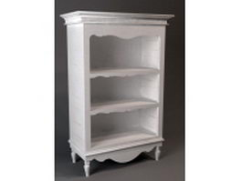 Classic wood bookcase 3d preview
