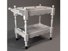 Antique sideboard table 3d preview
