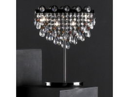 Crystal chandelier bedside lamp 3d preview