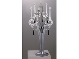 Classic chrome table lamp 3d preview