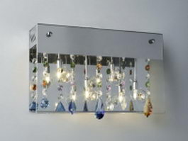 Modern crystal wall lamp 3d model preview