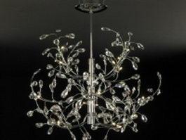 Vintage crystal chandelier 3d model preview