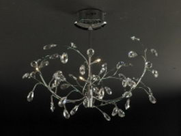 LED chandelier light 3d preview