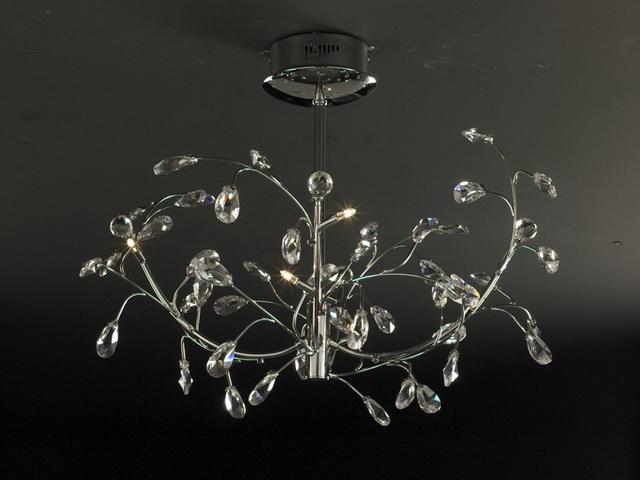 LED chandelier light 3d rendering