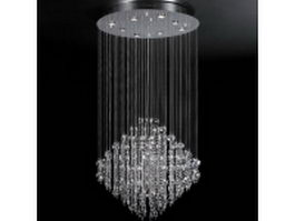Crystal drop chandelier 3d model preview