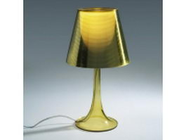 Amber plastic table lamp 3d model preview