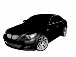 BMW M5 executive car 3d model preview