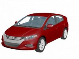 Honda Insight compact car 3d model preview