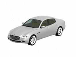 Maserati Quattroporte luxury car 3d model preview