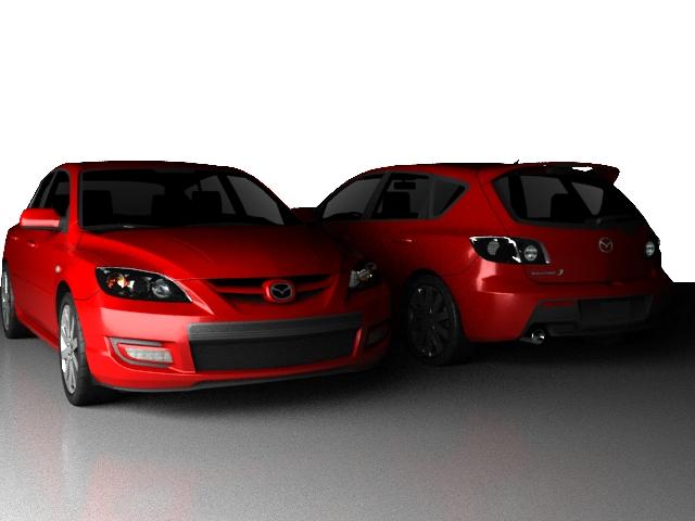 Mazda3 4-door sedan 3d rendering