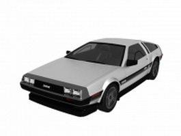 DeLorean DMC-12 2-door coupe sports car 3d model preview