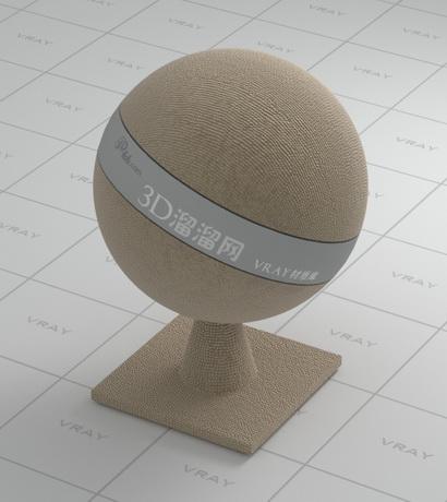 Khaki coarse-textured fabric material rendering