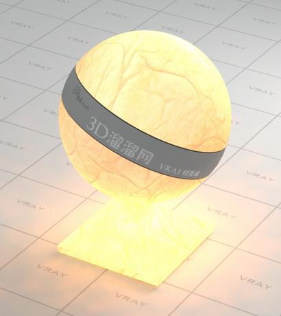 Light beige lambskin lampshade material rendering