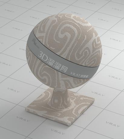 Light brown flannelette carpet material rendering