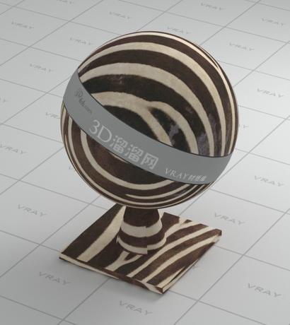 Zebra-stripe cloth material rendering