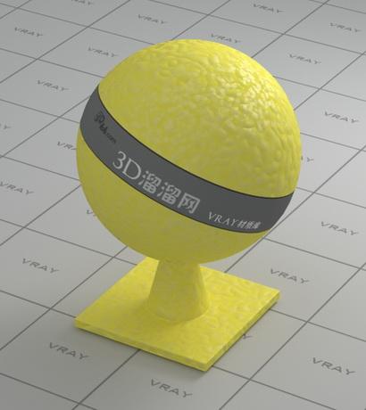 Yellow lemon peel material rendering