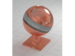 Brown bubble glass vray material