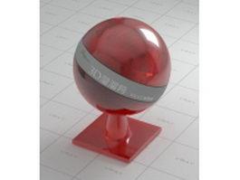 Dark red glass vray material