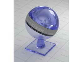 Blue tinted glass vray material