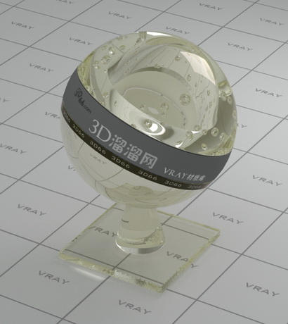 Hot beverages green tea material rendering