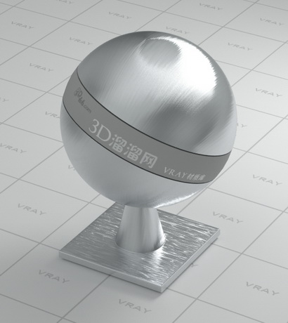 Brushed stainless steel material rendering