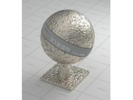 Gleaming decorative metal vray material