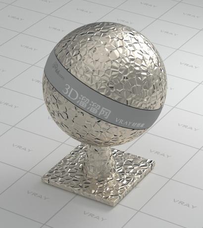 Gleaming decorative metal material rendering