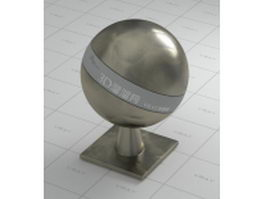 Dark polished metal vray material