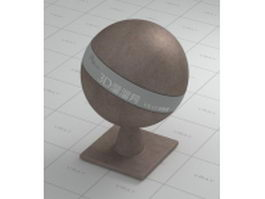 Matte bronzed copper vray material