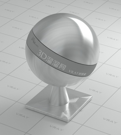 Polished stainless steel material rendering