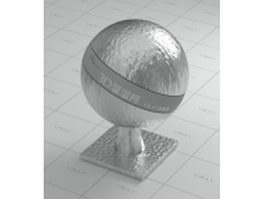 Rough and uneven silver metal vray material
