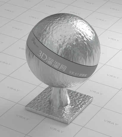 Rough and uneven silver metal material rendering