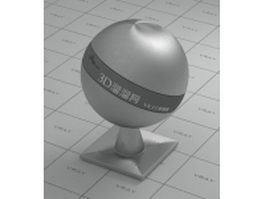 Smooth stainless steel vray material